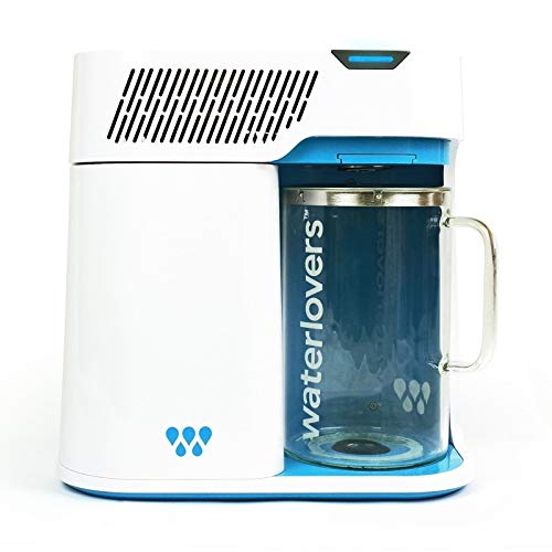 Waterlovers 2800 Water Distiller with Smart Technology - Water Filter Purifier with Stainless Steel Boiler and 2.8L Glass jug