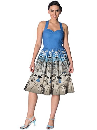 Dancing Banned Days by Paris Strappy Blue 5488 Kleid Dress Errqf