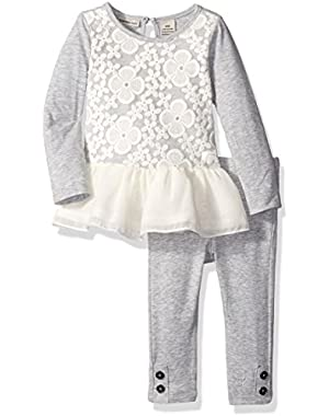 Baby Girls' Lace Overlay Tunic with Leggings Set