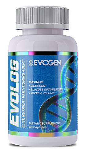 Evogen Evolog, Advanced Nutrient Partioning Agent, Glucevia Fraxinus Angustifolia Extract, GlucoVantage Dihydroberberine, Banaba Leaf Extract, R-ALA, Digestive Enzymes, Protease, 60 Capsules