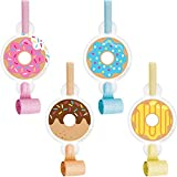 Donut Time Party Blowers, 24 ct