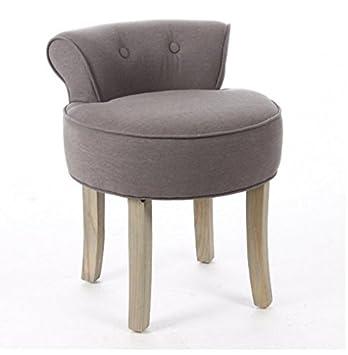 Fantastisch Yopih Schminktisch Vanity Hocker Gepolsterte Sitzfläche Stuhl Schlafzimmer  Stilvolle Accessoires Beauty Hocker Retro Grau