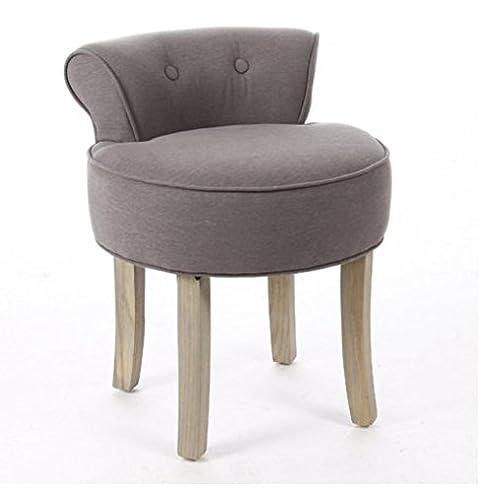 Yopih Schminktisch Vanity Hocker Gepolsterte Sitzfläche Stuhl Schlafzimmer  Stilvolle Accessoires Beauty Hocker Retro Grau Images