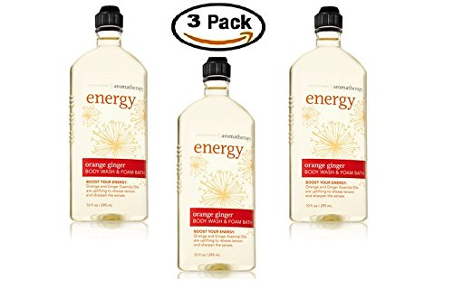 Bath & Body Works Aromatherapy Body Wash & Foam Bath Orange Ginger (3-Pack)