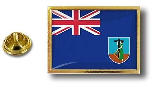 Pins Metal Montserrat Abrazadera Badge Mariposa Pin Pin Akacha Bandera Con dZqxtq