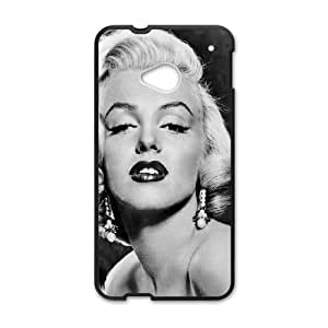 HTC One M7 Cell Phone Case Black Marilyn Monroe Sexy Classic P5D4HW