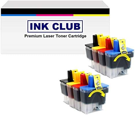 Inkcool 8PK LC41 Ink Cartridge Compatible for Brother DCP-110C;DCP-120C;MFC-210C;MFC-3240C;MFC-3340CN;MFC-410CN;MFC-420CN;MFC-5440CN;MFC-5840CN;Intellifax 1840C;Intellifax 1940CN;Intellifax 2440C