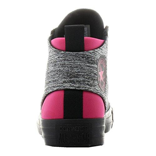 Converse Chuck Taylor All Star Sloane Mocassino Neoprene Mid Fashion Scarpa - Donna Nero Vivido Rosa Nero