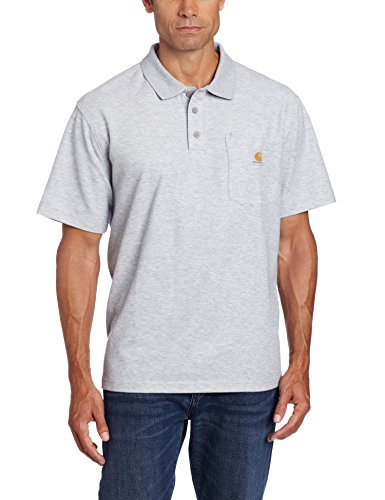 Carhartt Men's Contractors Work Pocket Polo Original Fit,Heather Grey,XX-Large (Pocket Polo)