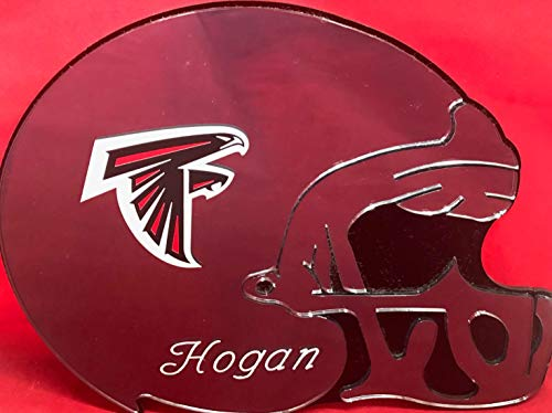 Atlanta Falcons Helmet Wall - Atlanta Falcons NFL Football Helmet Wall Decor Wall Hanging Personalized Free Engraved Mirror Sign NFL Sports Memorabilia - with Your Name On It!