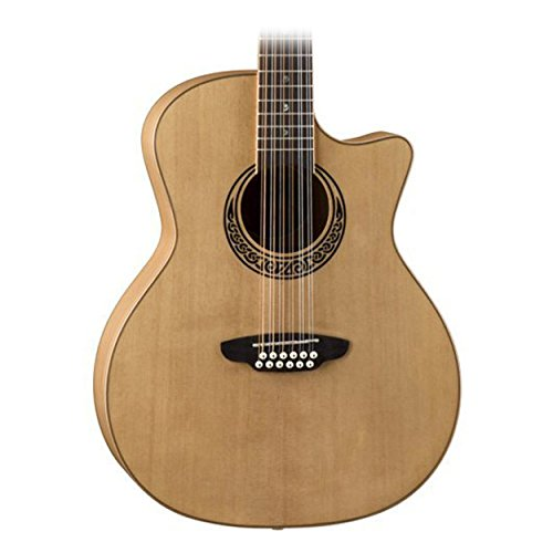 Maple 12 String - Luna Muse 12 String Cutaway Acoustic Guitar, Maple