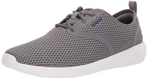 Crocs Men's LiteRide Mesh Lace-Up Sneaker Smoke/White 10 M US