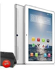 4G LTE Tablet PC 10 Zoll Dual SIM - TOSCIDO Android 9.0 Zertifiziert von Google GMS,Quad Core,64GM eMMC,4GB RAM,Doppelt Lautsprecher Stereo,WiFi/Bluetooth/GPS/OTG - Silber