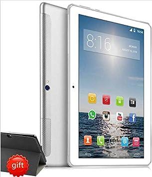 4G LTE Tablet 10 Pulgadas HD - TOSICDO Android 9.0 Certificado por Google GMS,Quad Core,64GM ROM,4GB RAM,Doble Altavoz Estéreo,WiFi/Bluetooth/GPS/OTG - Plata