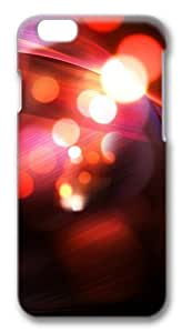 Abstract Red Bokeh Polycarbonate Hard Case Cover for iphone 6 plus 5.5 inch 3D