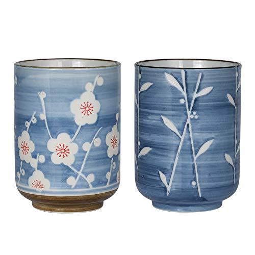 Sunddo Japanese Tea Cups Ceramic Teacup Mug Set of 2 10oz/300mL ()
