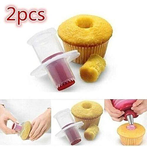 2Pcs DIY Cupcake Muffin Cake Pastry Corer Plastic Filler Mod