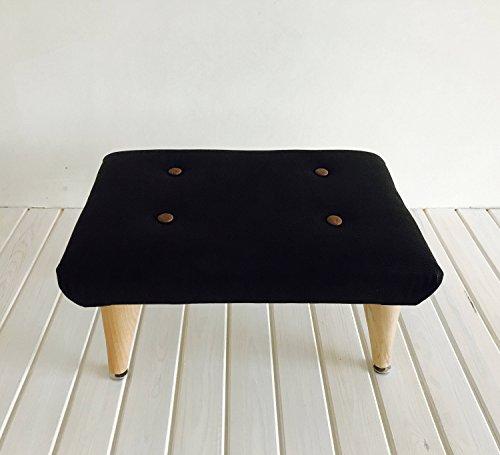 Genuine Leather Handmade Mid Century Footstool/Ottoman
