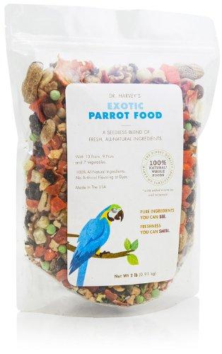 Dr. Harvey's Exotic Blend Natural Food for Parrots, 2-Pound Bag, My Pet Supplies