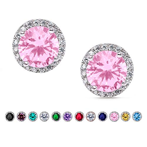 SWEETV Cubic Zirconia Stud Earrings for Wedding,Bridal,Prom-Rhinestone Hypoallergenic Earrings for ()