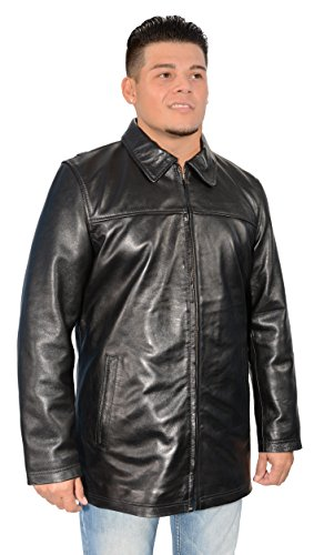 Milwaukee Leather Mens Classic James Dean Style Black Leather Zipper Front Jacket - James Dean Style Jacket
