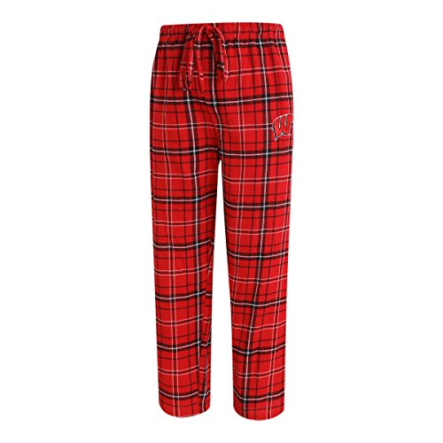 Concept Sport Wisconsin Badgers Adult NCAA Ultimate Flannel Pants - Team Color, X-Large ()