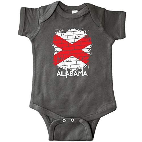 Alabama Charcoal - inktastic Graffiti Alabama State Flag Infant Creeper Newborn Charcoal Grey