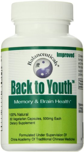 - Balanceuticals Back to Youth Dietary Supplement Capsules, 500 mg, 60 Count Bottle