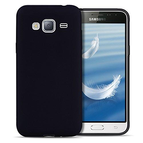 Funda Galaxy J3 2016 / J310 , SpiritSun Soft TPU Silicona Handy Candy Carcasa Funda para Samsung Galaxy J3 2016 / J310 (5.0 Pulgadas) Suave Silicona Piel Carcasa Ultra Delgado y Ligero Goma Flexible P Negro