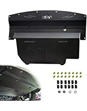 ELITEWILL Black Aluminum Front Lower Engine Splash Shield Guard Under Tray Cover Skid Plate Fit for 2003-2009 Nissan 350Z & 2003-2006 Infiniti G35 and 03-07 G35 Coupe