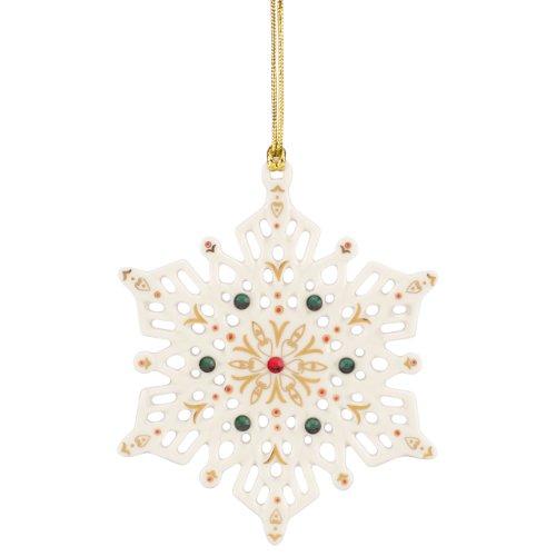 Ornament China Snowflake (Lenox China Jewels Snowflake)