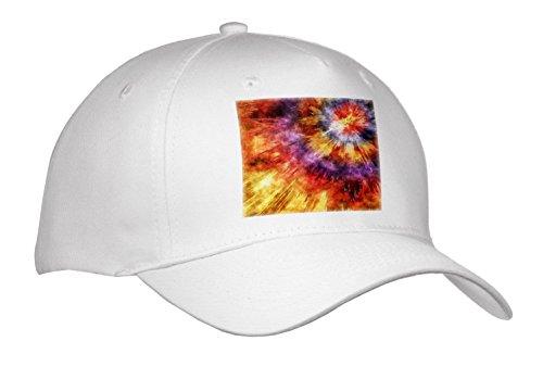 Phil Perkins - Graphic Design - Shades of Orange Tie Dye Starburst - Caps - Adult Baseball Cap (Shade Starburst)