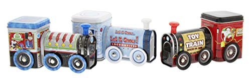 Container Tin Collectible Decorative - Retro Style Train Tin Containers - Set of 3 Assorted