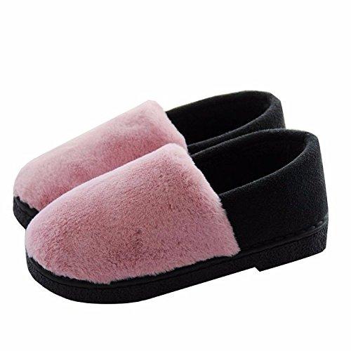 La Pantoufles Coton Maison XING Intérieures Pantoufles GUANG Chaudes D'hiver Purple Peluche Grey Pantoufles en Partum Post Mois en Coton épaisses Peluche à 0w4Hqw