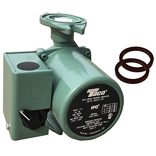 Taco 0015-MSF3-IFC, 3 Speed Circulator, Cast Iron, 1/20 HP Pump