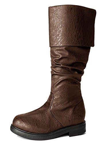 Renaissance Western Steampunk Assassin's Creed Medieval Cosplay Halloween Men's Boots (X-Large (14), (Mens Renaissance Boots)