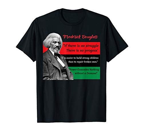 Frederick Douglass Quotes Pan African Flag Black History