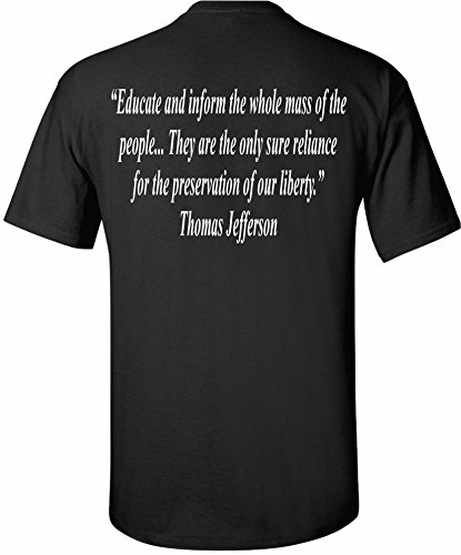 Patriot Apparel Thomas Jefferson Quote Don't Tread On Me DTOM 2nd Amendment Patriotic Presidential President Tee T-Shirt Design Apparel (3X-Large, Black) (Us History And Government Second Edition Answers)