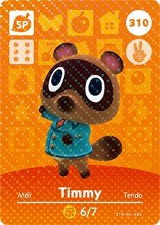 Timmy- Nintendo Animal Crossing Happy Home Designer Series 4 Amiibo Card -310