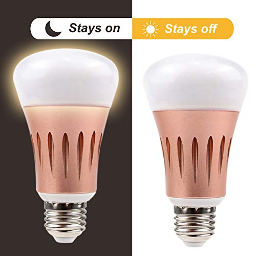 Cheap Juhefa LED Dusk to Dawn Light Bulb,7W Smart Sensor Light Bulb with Dusk Till Dawn Auto On/Off, Outdoor/Indoor Security Lighting Porch Patio Garage Hallway (E26/E27, Warm White 2700K,2 Pack)