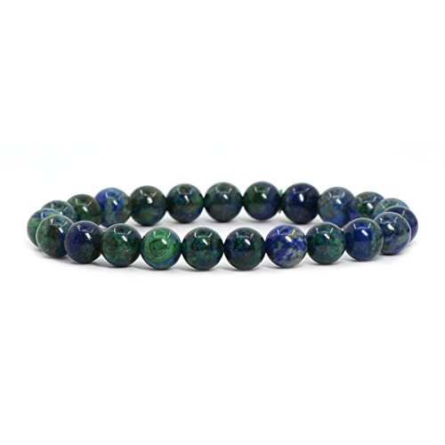 Stretch Jewelry Bead Bracelet - Justinstones Dyed Lapis Chrysocolla Gemstone 8mm Round Beads Stretch Bracelet 7
