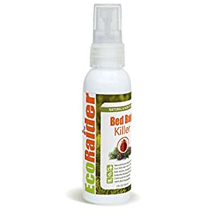 Bed Bug Killer by EcoRaider Travel/Personal Size, 100% Fast Kill and Extended Protection, Plant Based Non-toxic Formula