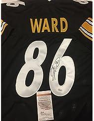 Autographed/Signed Hines Ward Pittsburgh Black Football Jersey JSA COA