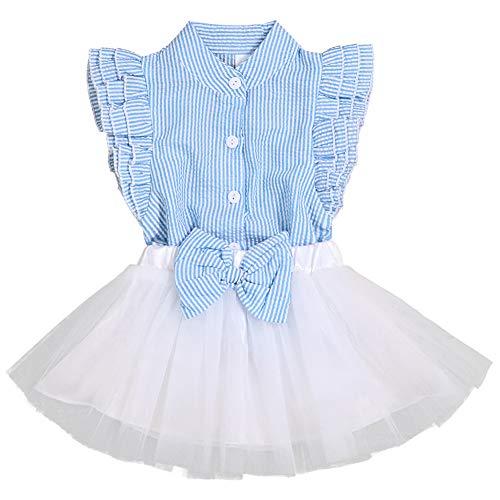 Toddler Baby Girl Outfits 2Pcs Ruffle Print T-Shirt