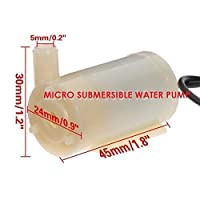 Electomania Micro DC 3-6V Micro Submersible Mini Water Pump For Fountain Garden DIY Project