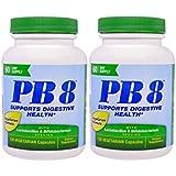 Nutrition Now PB 8 ProBiotic Acidophilus Vegetarian Dietary Supplement, 120 Capsules (Pack of 2)