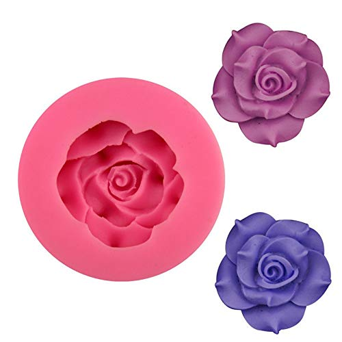 M Soap - Rose Flower Silicone Mold Cake Decorating Chocolate Cookie Soap Fimo Polymer Clay Resin - Giant Lion Prints Tartlets Jewelry Slugs Soap Tofu Pearl Rice Shapes Fusing Tarts Eggs Baki]()