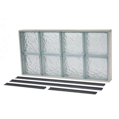 NailUp2 Ice Pattern Solid Glass Block Window by TAFCO WINDOWS