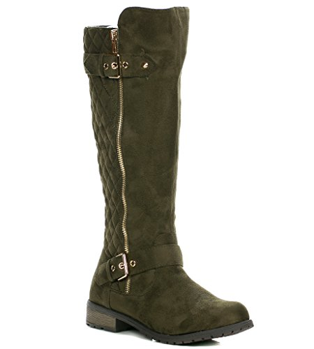 Forever Link Mango-21 Lady Boot Olive-s