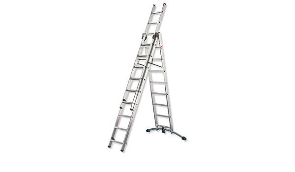 Hailo profilpress escalera ProfiStep 3-sección Capacidad 150 kg 3 x 12 confluyendo para H9.25m 30,5 kg Batería de ion de litio 9309-501: Amazon.es: Electrónica